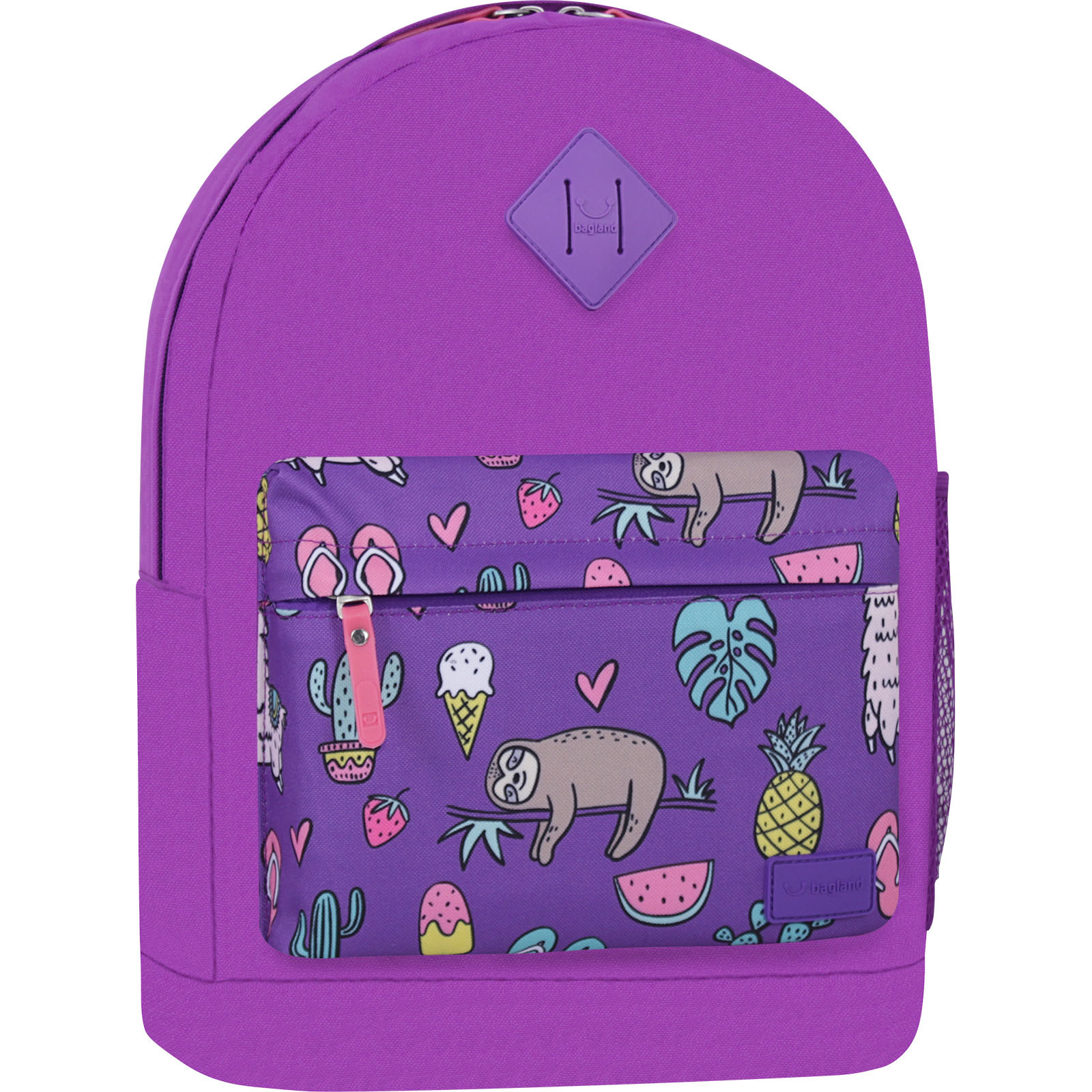 Городские рюкзаки Рюкзак Bagland Молодежный W/R 17 л. 339 Фиолетовый 770 (00533662) IMG_7357_суб770_-1600.jpg