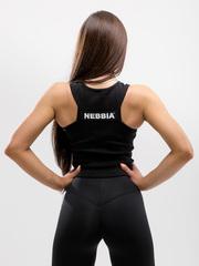 Топ NEBBIA Labels crop top 516 BLACK