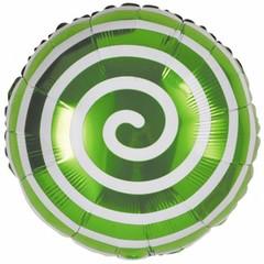 К Круг, Леденец Спираль, Зеленый, 18''/46 см,1 шт.