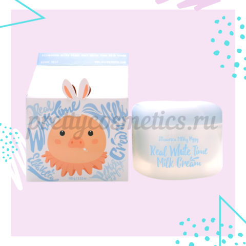 Elizavecca Крем осветляющий для лица и тела КОЗЬЕ МОЛОКО Real White Time Milk Cream, 100 гр