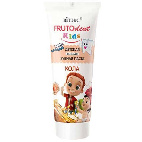 Витэкс FrutoDent Kids Детская гелевая зубная паста Кола 65г