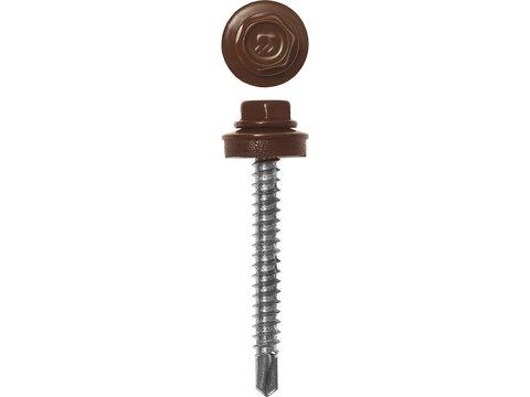 Саморезы СКД кровельные, RAL 8017 шоколадно-коричневый, 35 х 4.8 мм, 380 шт, для деревянной обрешетки, ЗУБР Профессионал