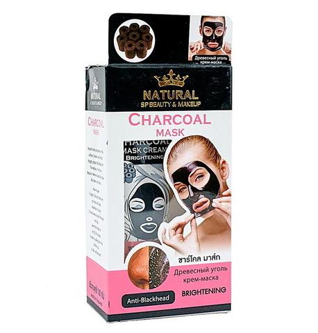 Маска-пленка с бамбуковым углем и розовой глиной Natural Charcoal Mask,  100гр