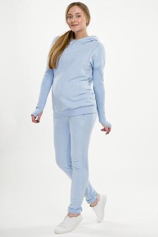 Спортивный костюм для беременных и кормящих 11498 голубой
