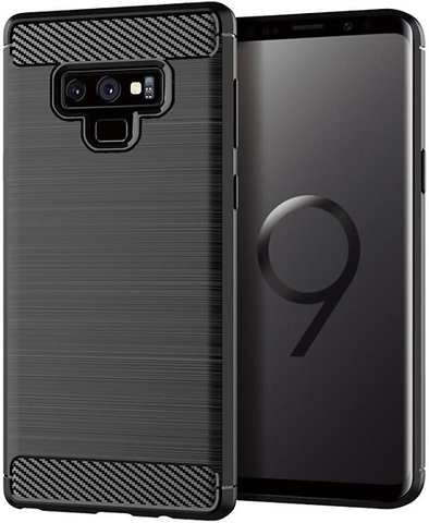Чехол Samsung Galaxy Note 9 цвет Black (черный), серия Carbon, Caseport