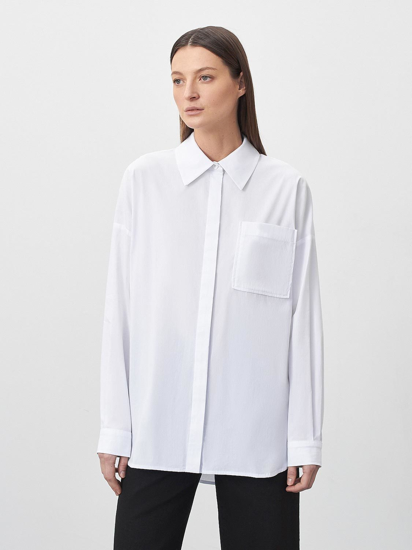 Рубашка Arwen объёмная с карманом, Белый