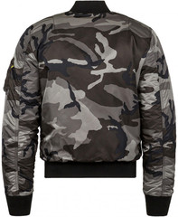 Куртка бомбер Alpha Industries MA-1 Slim Fit Tonal Black Camo