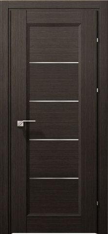 Дверь Краснодеревщик 3352, цвет чёрный дуб, остекленная