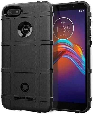 Чехол Motorola Moto E6 play цвет Black (черный), серия Armor, Caseport