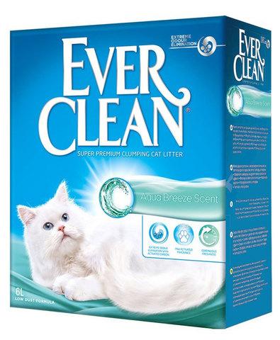 Ever Clean Aqua Breeze Scent комкующийся наполнитель с ароматом морской свежести д/кошек (6 л)