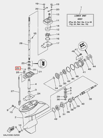 Кольцо уплотнительное для лодочного мотора F20 Sea-PRO (23-25)