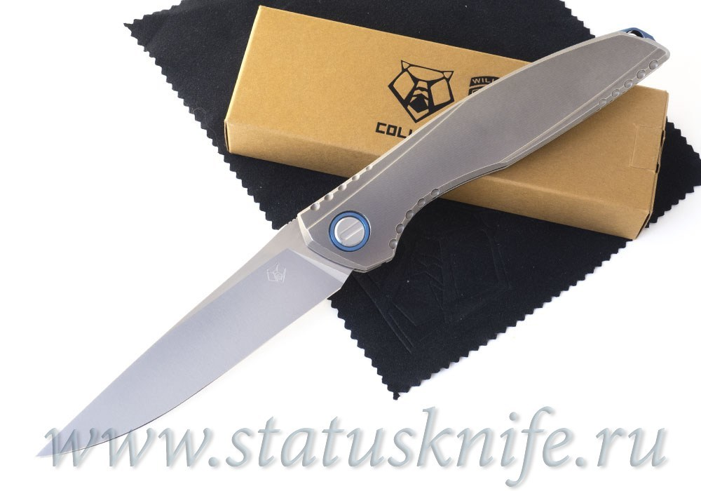 Нож Широгоров 110 Kickstop Кикстоп Sapphire Blue (Lee Williams)