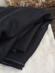 Лен костюмный 100%, Черный