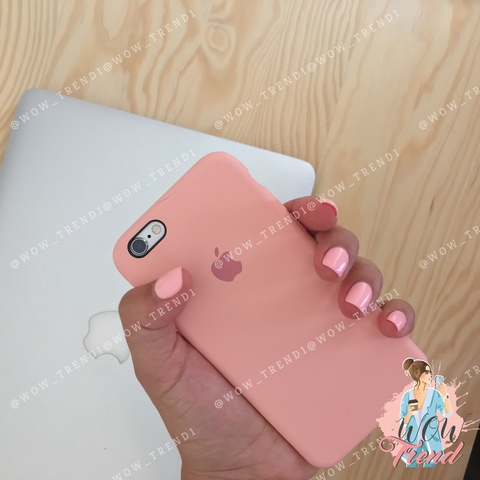 Чехол iPhone 6/6s Silicone Case /pink/ пудра original quality