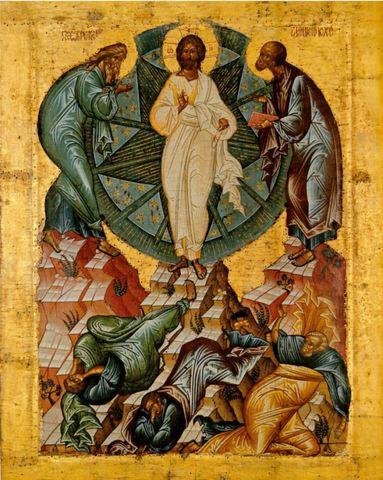 Икона Преображение Господне на дереве на левкасе мастерская Иконный Дом