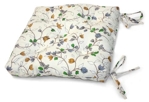 Подушка на стул Лаура голубой