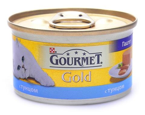 Gourmet Gold паштет с тунцом для взрослых кошек 85 г