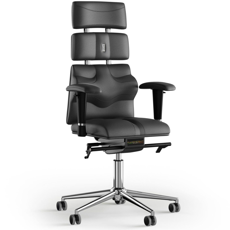 Кресло KULIK SYSTEM PYRAMID Кожа с подголовником без строчки