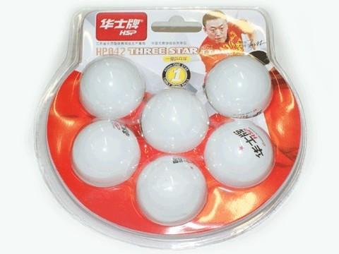 Шарики для настольного тенниса 1* HSP. Размер. 40 мм. Количество штук в упаковке - 6. :(НР042):