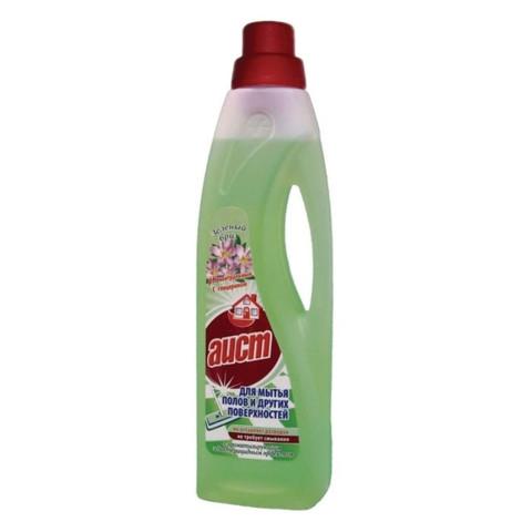 Средство для мытья пола АИСТ с бактерицид.эффектом зеленый бриз 950мл.