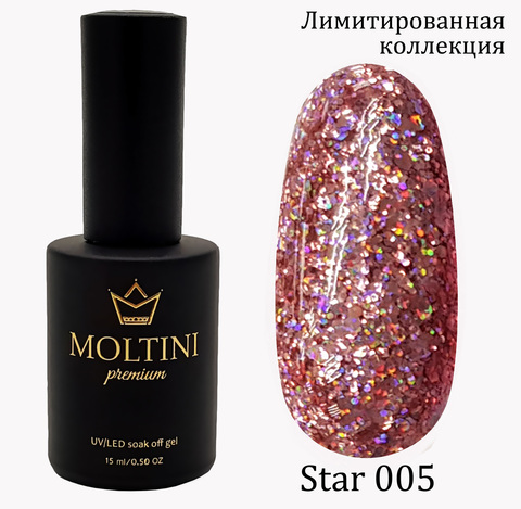 Гель-лак Moltini Premium STAR 005, 15 ml