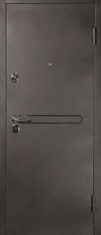 Дверь входная L-3 замок CISA стальная, венге, 2 замка, фабрика Арсенал