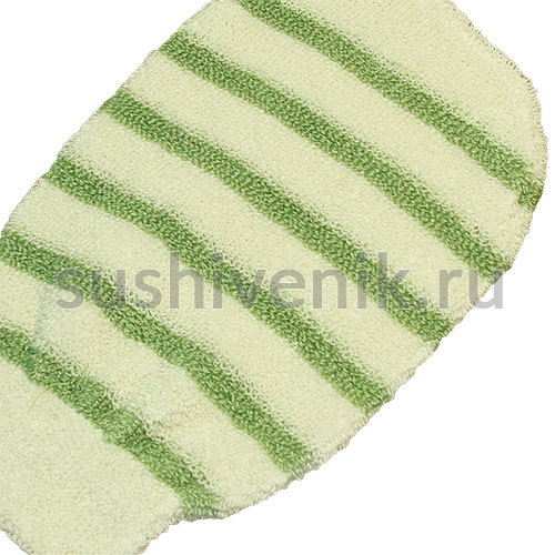 Мочалка-варежка из натурального бамбукового волокна