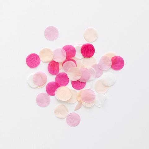 Конфетти, розовый