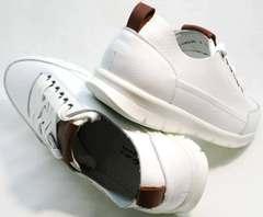 Удобные кроссовки на каждый день мужские белые Faber 193909-3 White.