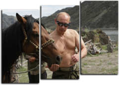 "Модульная картина ""Владимир Путин"""