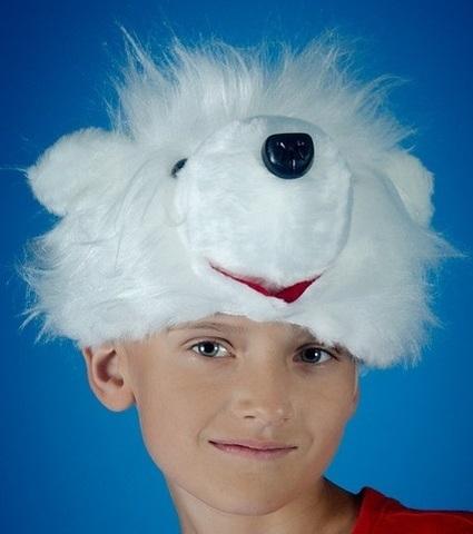 Карнавальная шапочка Медведь Белый 1