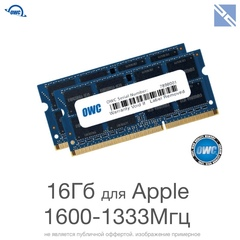 Комплект модулей памяти OWC 16GB для Apple 2011-2015 iMac, mac mini, macbook (2x 8GB) 1600MHZ DDR3L SO-DIMM PC3-12800