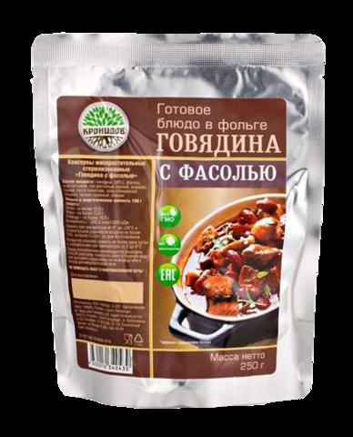 Говядина с фасолью 'Кронидов', 250г