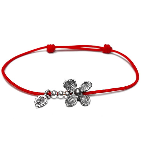 Flower Bracelet, sterling silver