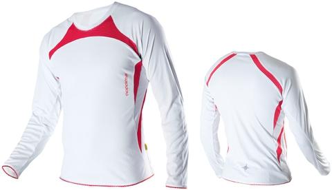 Футболка Noname Running Top 2011, белый-красный