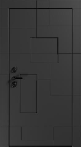 Входная дверь «Graphic» в цвете, Графит натуральный (эмаль)
