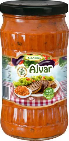 Болгарская закуска  Айвар сладкий перец и баклажаны Ellatika 310 гр