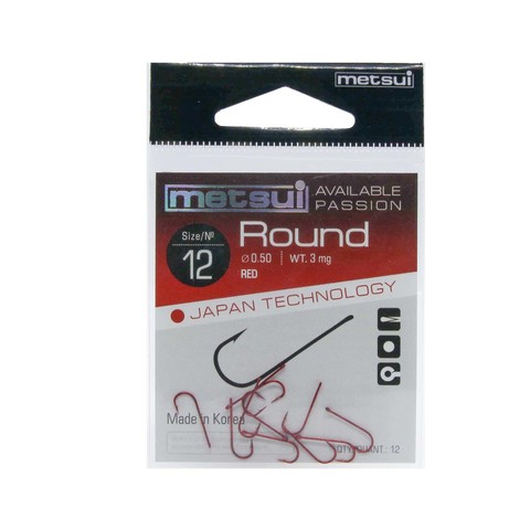 Крючки Metsui Round red № 12