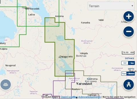 Карта: Волго-Балтийский канал, Navionics+ Small 5G624S2