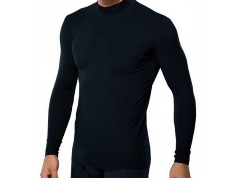 Мужская футболка с длинным рукавом черная Doreanse 2930