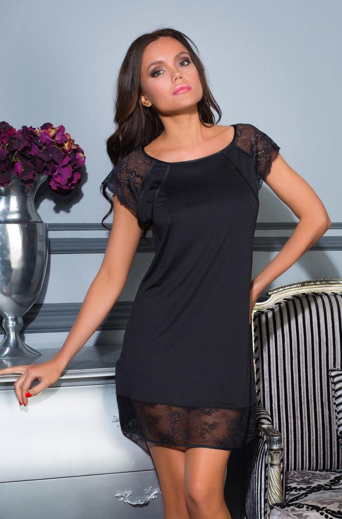 шелк искусственный Сорочка женская с кружевом  MIA-MIA Elegance de lux  ЭЛЕГАНС 12035 12035.jpg