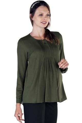 Блузка для беременных 09786 серо-зеленый