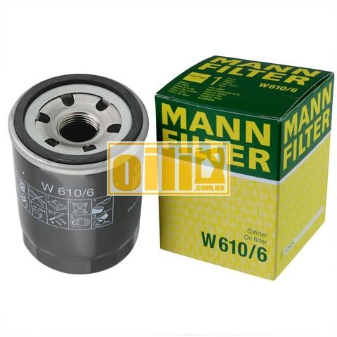 Фильтр масляный MANN W610/6 (Citroen, Fiat, Ford, Honda, Hyundai, KIA, Mazda, Mitsubishi, Nissan, Opel, Subaru, Volvo)