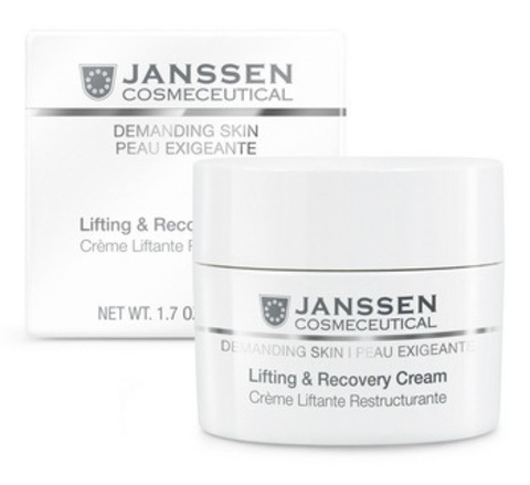 Восстанавливающий крем с лифтинг-эффектом Janssen Lifting & Recovery Cream, 200 мл.