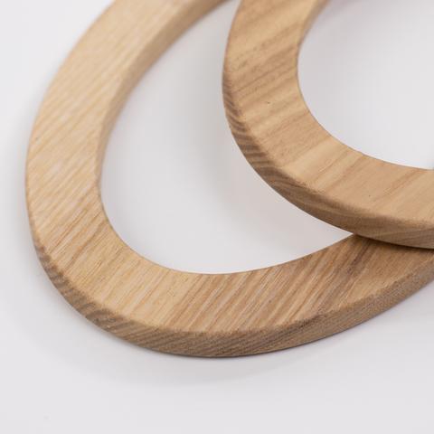 Деревянные ручки (массив ясеня) для сумки N22 натуральный цвет