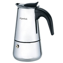 Гейзерная кофеварка ALPENKOK 110 мл на 2 чашки AK-800
