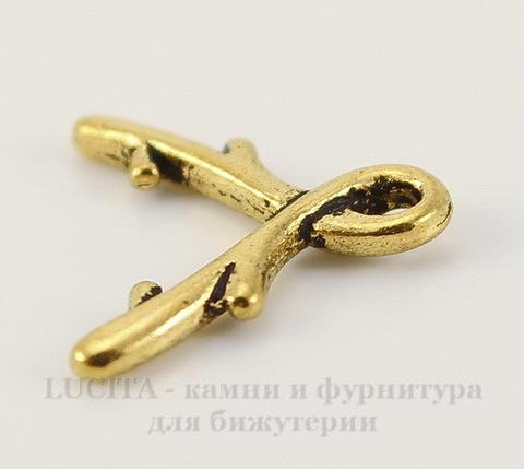 """Держатель для кулона TierraCast """"Briolette"""" большой 14х12 мм (цвет-античное золото)"""