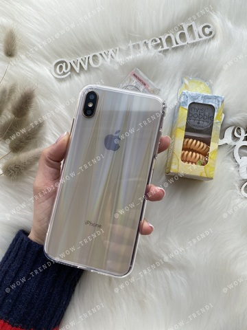 Чехол iPhone  XS Max Rainbow case /333/