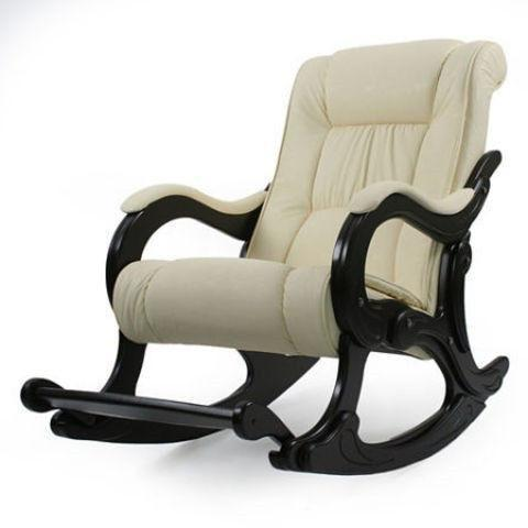 Кресло-качалка Лидер Модель 77 с подножкой (Or.perlam-106/Венге) бежевый