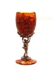 """Янтарный бокал для вина или воды, серия """"Янтарное искушение"""""""